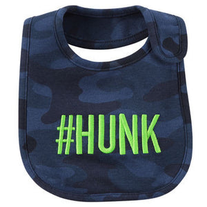 #Hunk Reversible Teething Bib