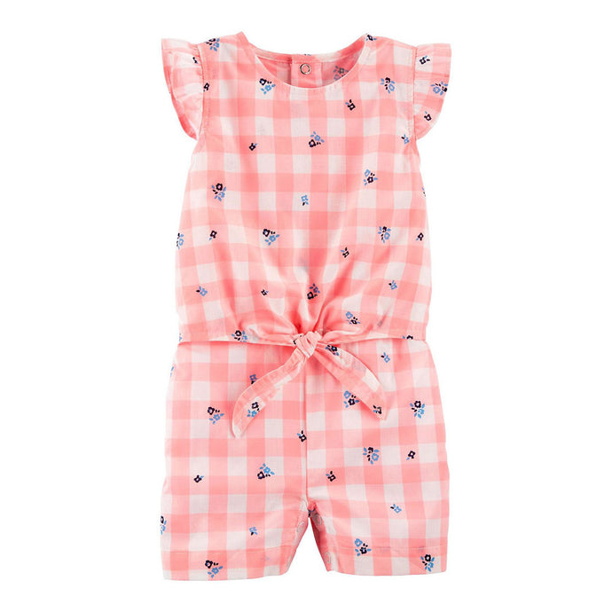 Gingham Twist Romper