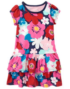 Capped Floral Dress