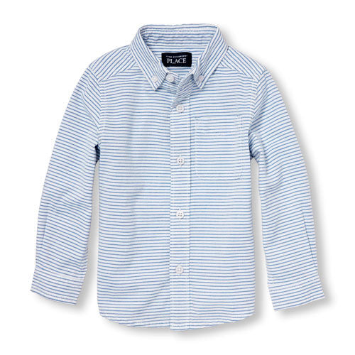 Blue Striped Oxford Shirt