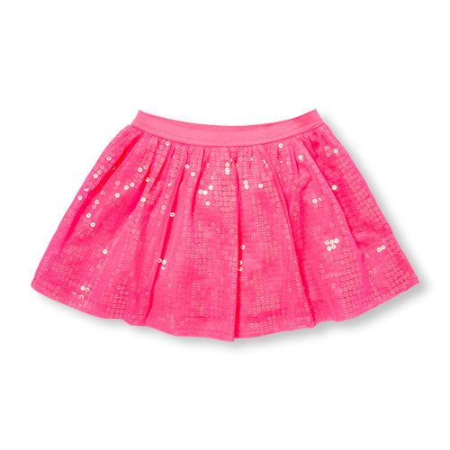 Pink Sequins Toddler Tutu Skirt