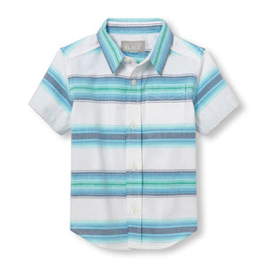 Blues & Greens Button Up Toddler Shirt