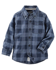 Checkered Chambray Shirt