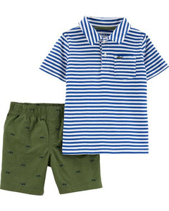 Blue Striped Shades Toddler Set