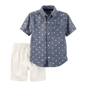 Aztec Chambray Toddler Set