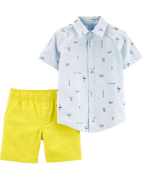 Sunshine Slogan Toddler Set