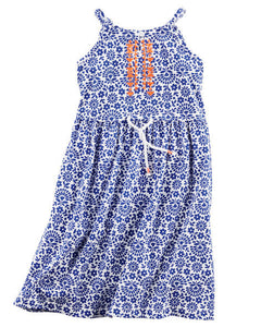 Embroidered Jersy Maxi Toddler Dress