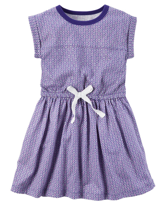 Purple Jersey Toddler Dress