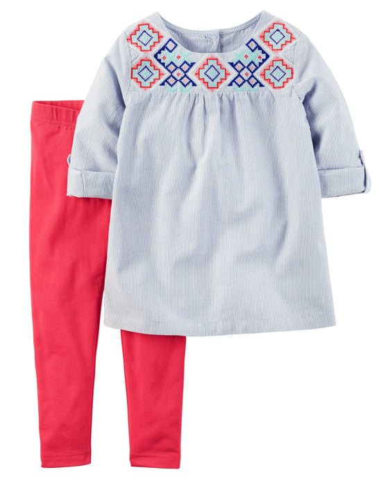 Ancient Aztec Tunic Toddler Set