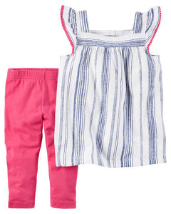 Striped Tank & Leggings Toddler Set