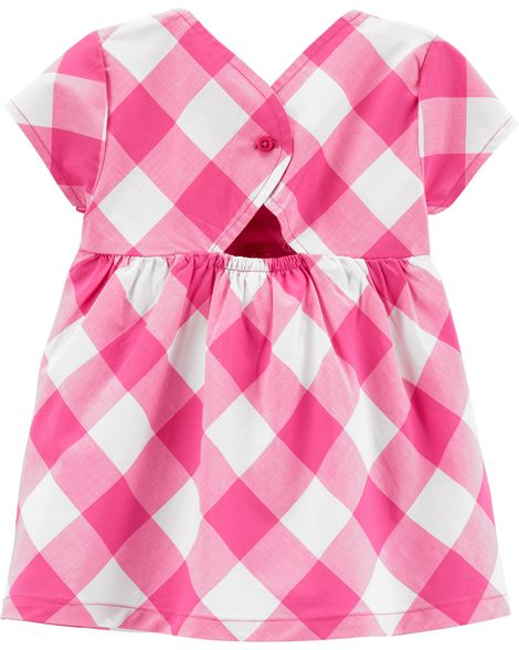 Pink Gingham Toddler Set