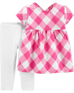 Load image into Gallery viewer, Pink Gingham Toddler Set