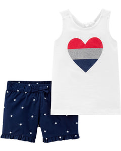 Heart & Stars 2-Piece Toddler Set