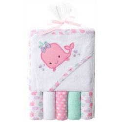 Baby Whale Towel & Washcloths Set