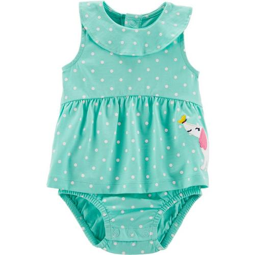 Dots & Puppies Sunsuit