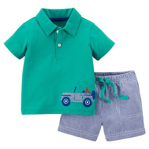 Teal Truck 2-Piece Set