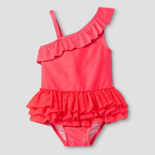 One Shoulder Tutu Toddler Swimsuit