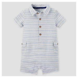 Blue Nautical Polo Romper