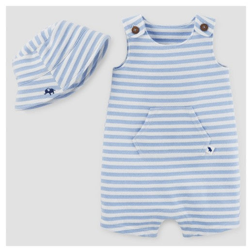 Light Blue Nautical Romper Set