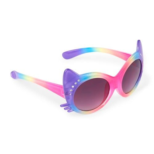 Faceted Cat Rainbow Sunglasses