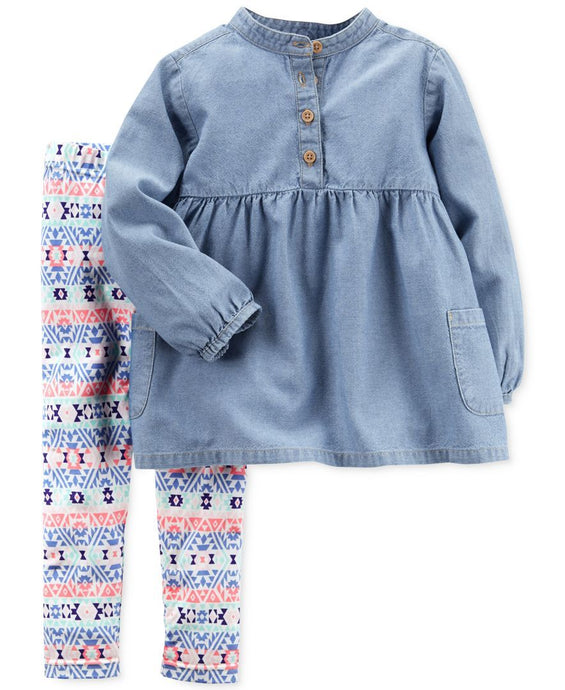 Chambray Tunic Set