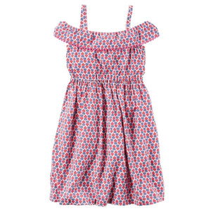 Pom-Pom Ruffle Toddler Dress