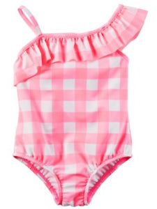 Pink Checkered Toddler Swimsuit