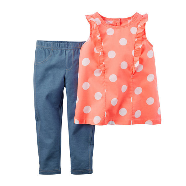 2-Piece Polka Dot Jeggings Set