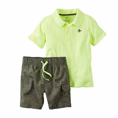 2-Piece Neon Camo Short Set