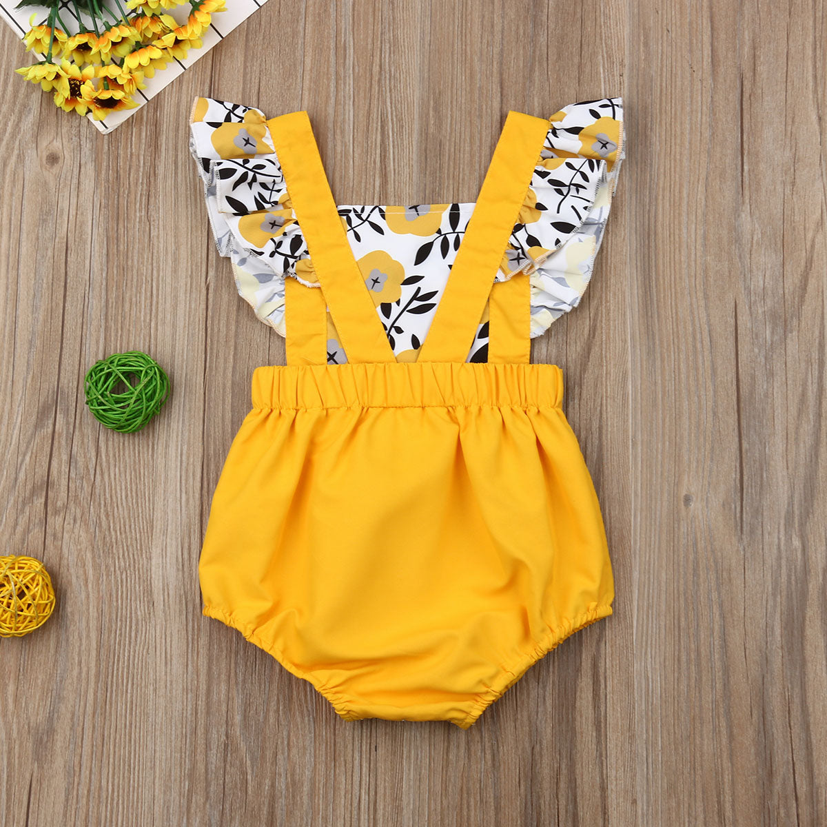 Yellow Poppy Romper