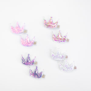 Confetti Crown Hair Clips