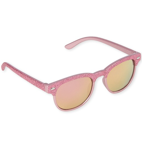 Pink Glitter Retro Sunglasses