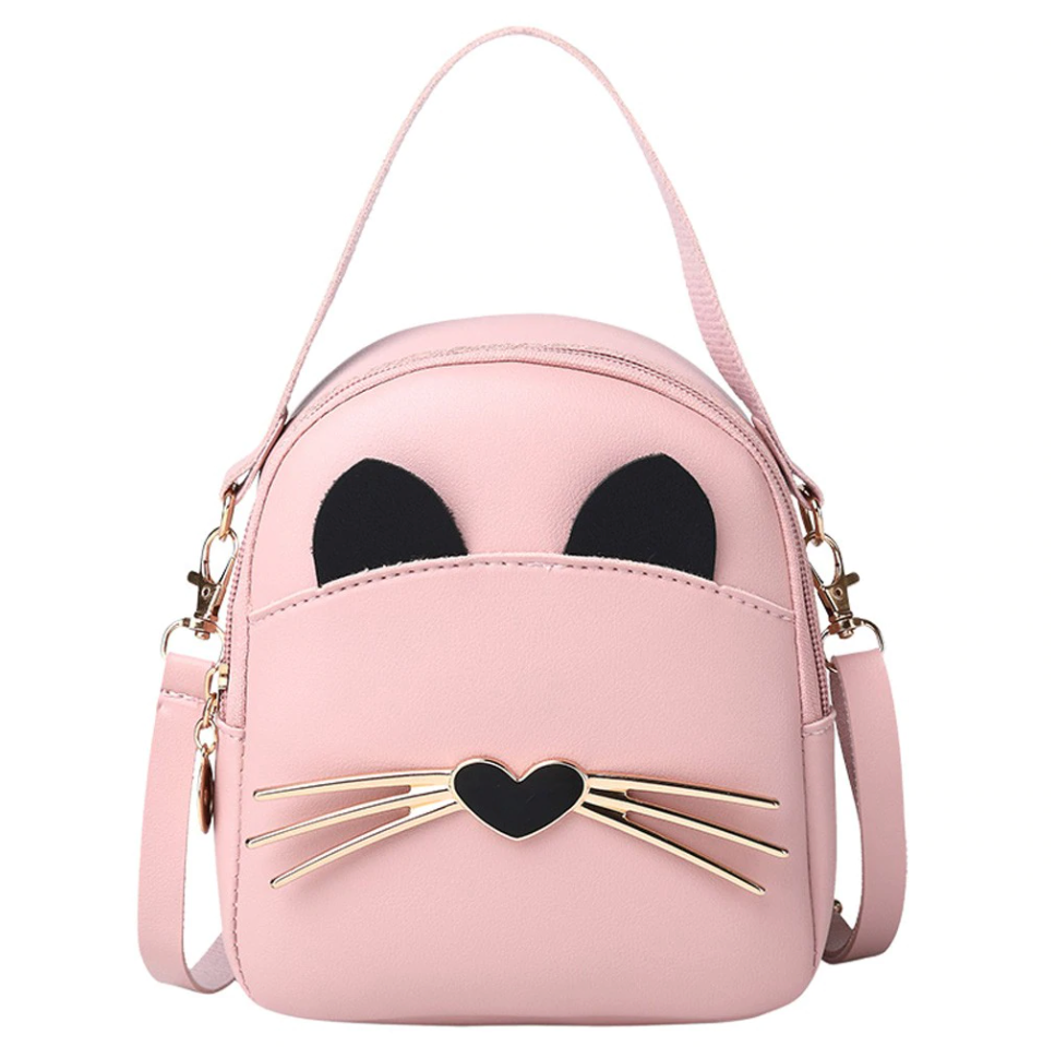 Pink Kitten Mini Backpack