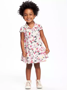 Floral Toddler Shirt Dress