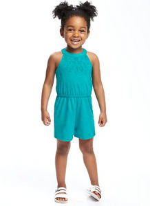 Teal Toddler Romper