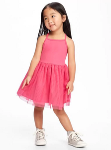 Pink Tutu Tank Toddler Dress