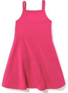 Pink Fit & Flare Toddler Dress