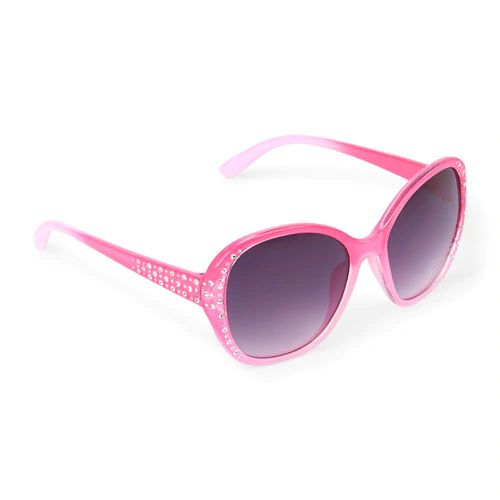 Faceted Oval Sunglasses