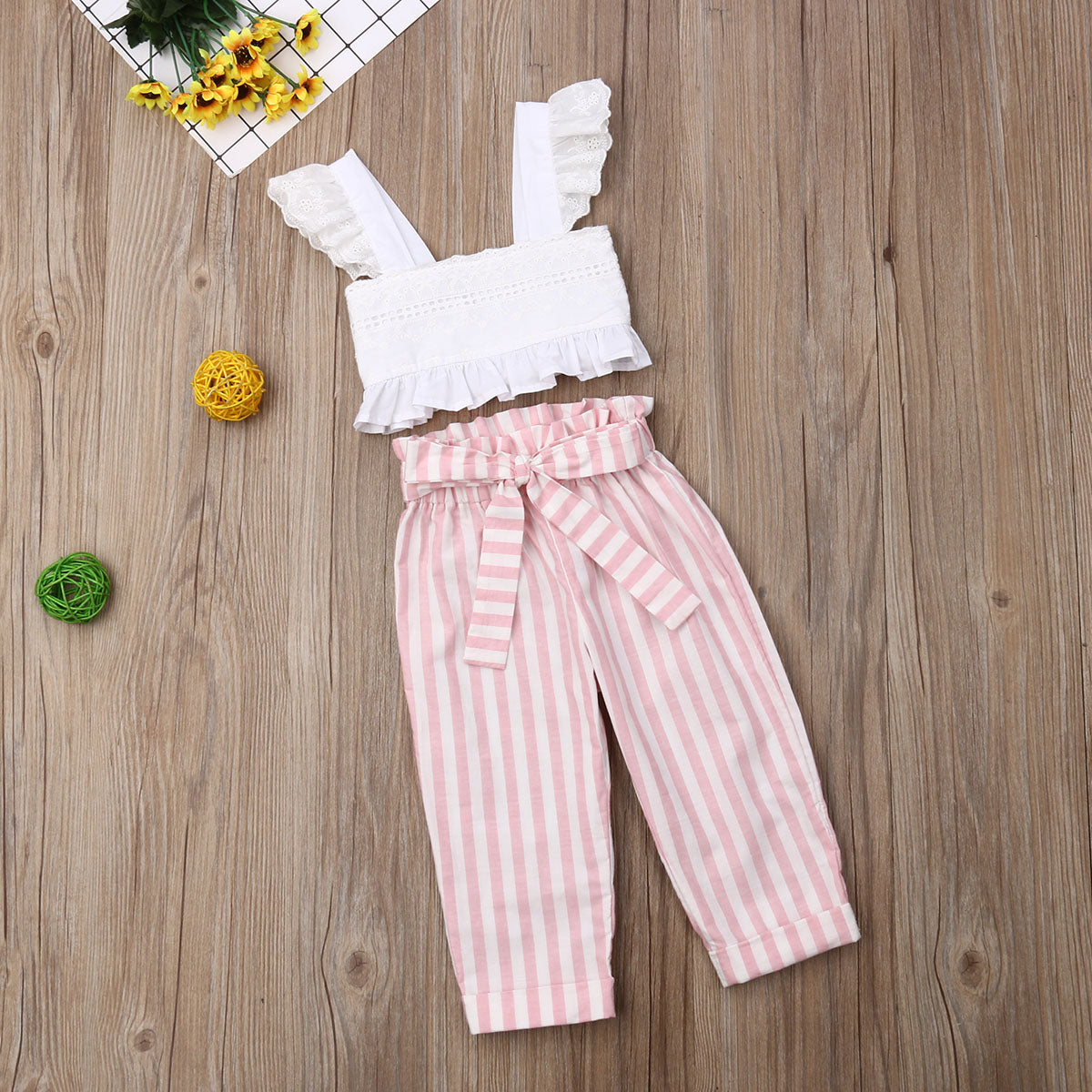 Eyelet Stripe Toddler Set