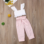 Load image into Gallery viewer, Eyelet Stripe Toddler Set