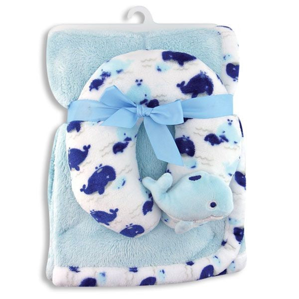 Blue Whales Blanket Set