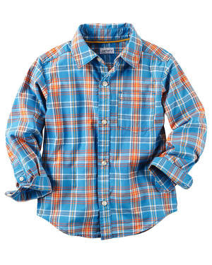 Aqua Plaid Button Up Shirt