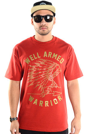 WARRIOR | Gold on Burgandy T-Shirt