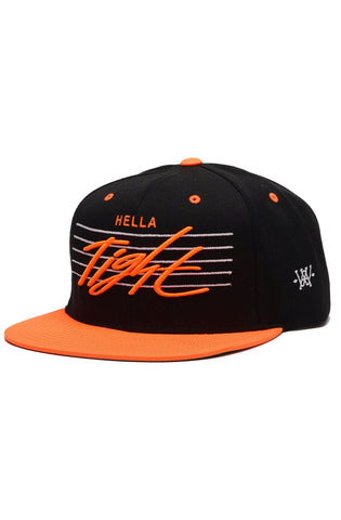 Hella Tight Bright Orange and Black Snapback