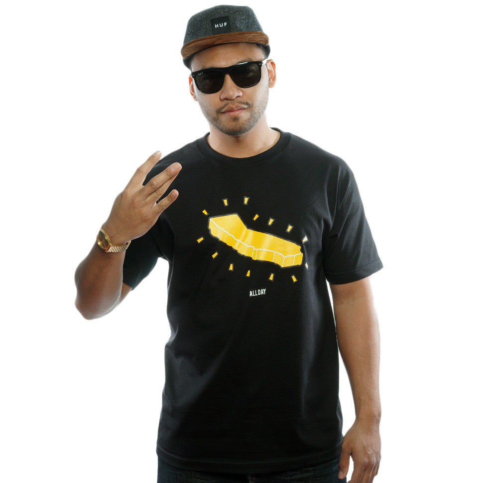 ALL DAY | Gold Yellow / Black T-Shirt