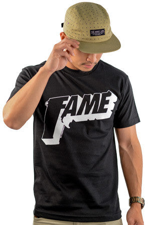 FAME | White on Black T_shirt