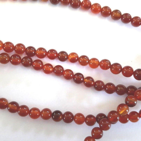 Agate Gemstone 4mm round Beads G1088