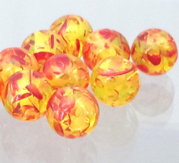 Amber beads Hand made 8mm round bead G1002