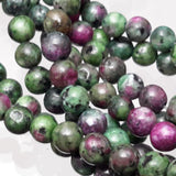 6mm Natural Green Ruby In Zoisite Round Gemstone Loose Beads G1880