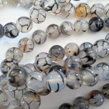 Agate spider Stone Beads 6mm Jewelry Beads G1060